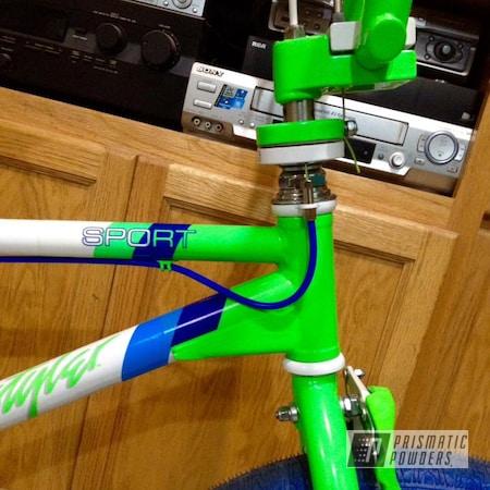 Powder Coating: Haro Sport,Bright Green PSB-5945,Polar White PSS-5053