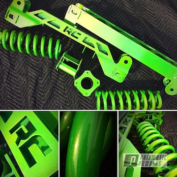 Rough Country Lift Kit In Psycho Green And Neon Green Over Heavy Silver