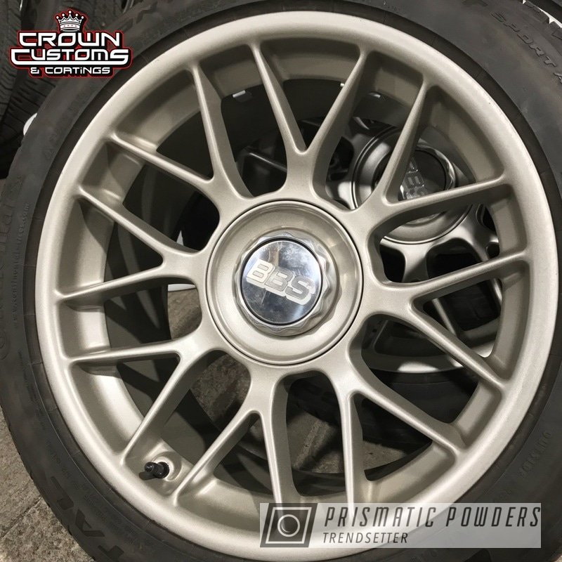 Powder Coating: Wheels,Automotive,VEGAS GOLD UMB-1811,BBS Wheels