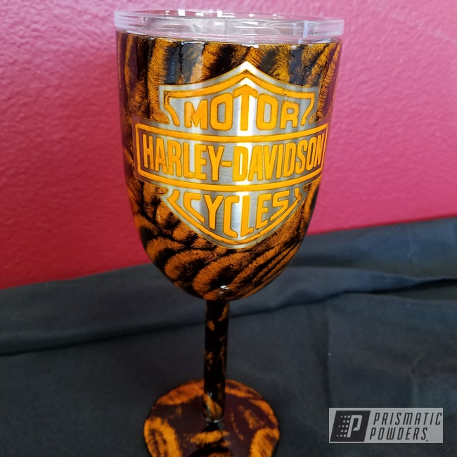 Powder Coating: Harley Davidson,Clear Vision PPS-2974,Ink Black PSS-0106,Chevy Orange PSS-0163,Custom Drinkware,Custom Cup,Custom Wine Glass