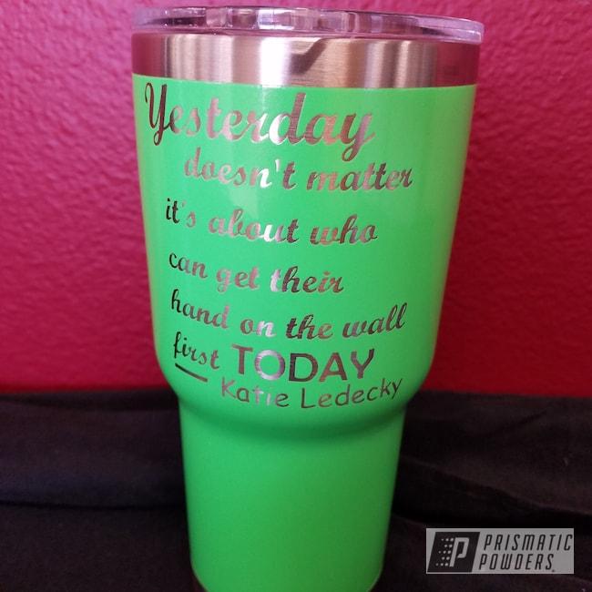 Powder Coating: Limelite PMB-0869,Custom Cup
