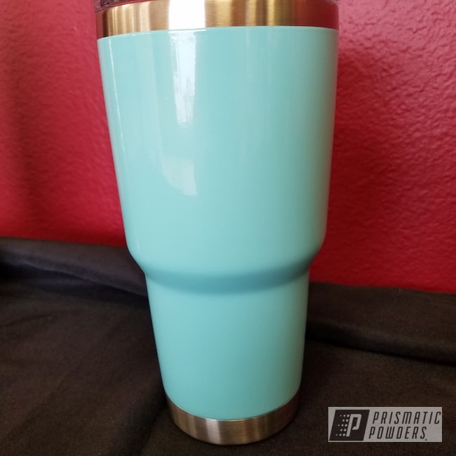 Powder Coating: Sea Foam Green PSS-4063,Custom Cup,Powder Coated Yeti Cup
