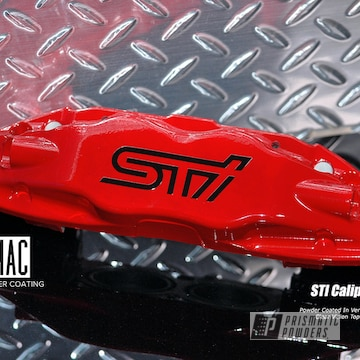 Sti Brake Calipers Coated In Very Red And Clear Vision