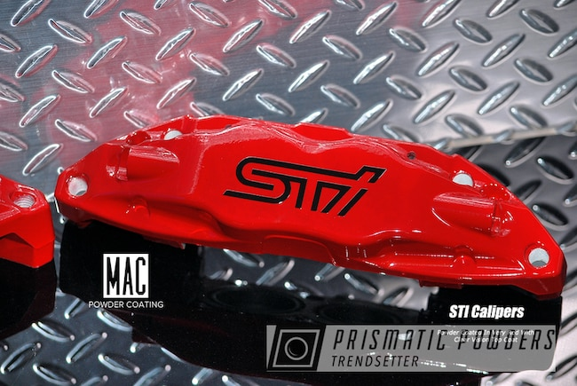 Powder Coating: WRX,Clear Vision PPS-2974,STI Brake Calipers,Custom Powder Coating,Very Red PSS-4971,Brembo Brake Calipers,mac powder coating,Custom Vinyl Decal