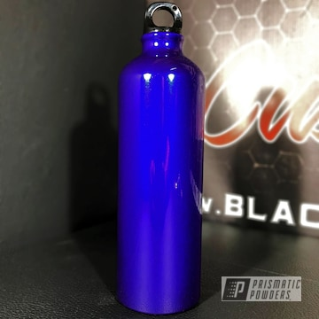 Custom Two Coat Water Bottle Coated In Majestic Purple Over Super Chrome