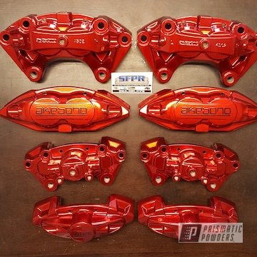 Custom Brake Calipers In Super Chrome, Rancher Red And Clear Vision