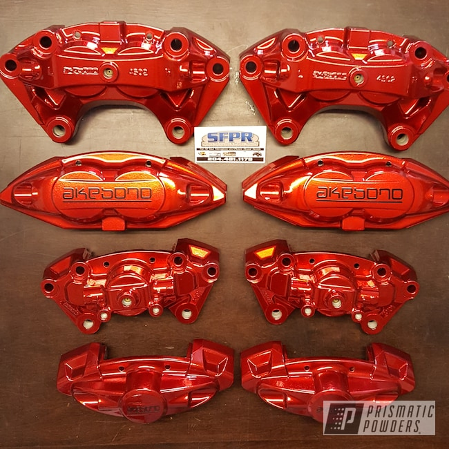 Powder Coating: Calipers,Clear Vision PPS-2974,SUPER CHROME USS-4482,Brake Calipers,Rancher Red PPB-6415,Custom Brakes,Custom Brake Calipers