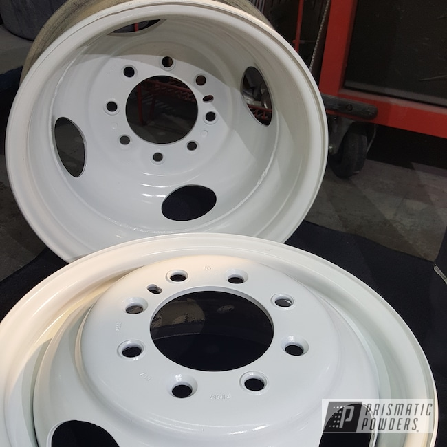 Powder Coating: Automotive,Custom Rims,Gloss White PSS-5690
