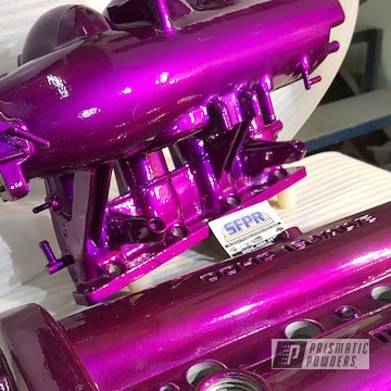 Car Parts Coated In Illusion Violet And Clear Vision Top Coat