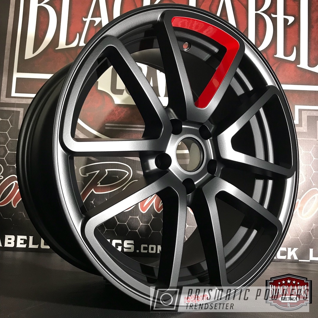 Powder Coating: Two Tone Wheels,Black Jack USS-1522,Very Red PSS-4971,Rotiform Wheels