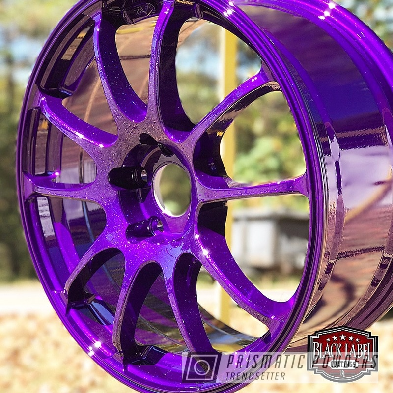Powder Coating: Illusion Purple PSB-4629,Wheels,Automotive,Custom Flake,Clear Vision PPS-2974,Three Coat