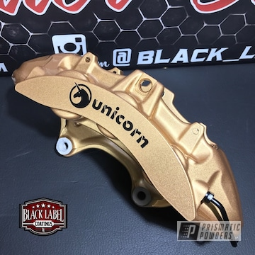 Personalized Brembo Brake Calipers Coated In Tomic Gold Ii And Clear Vision