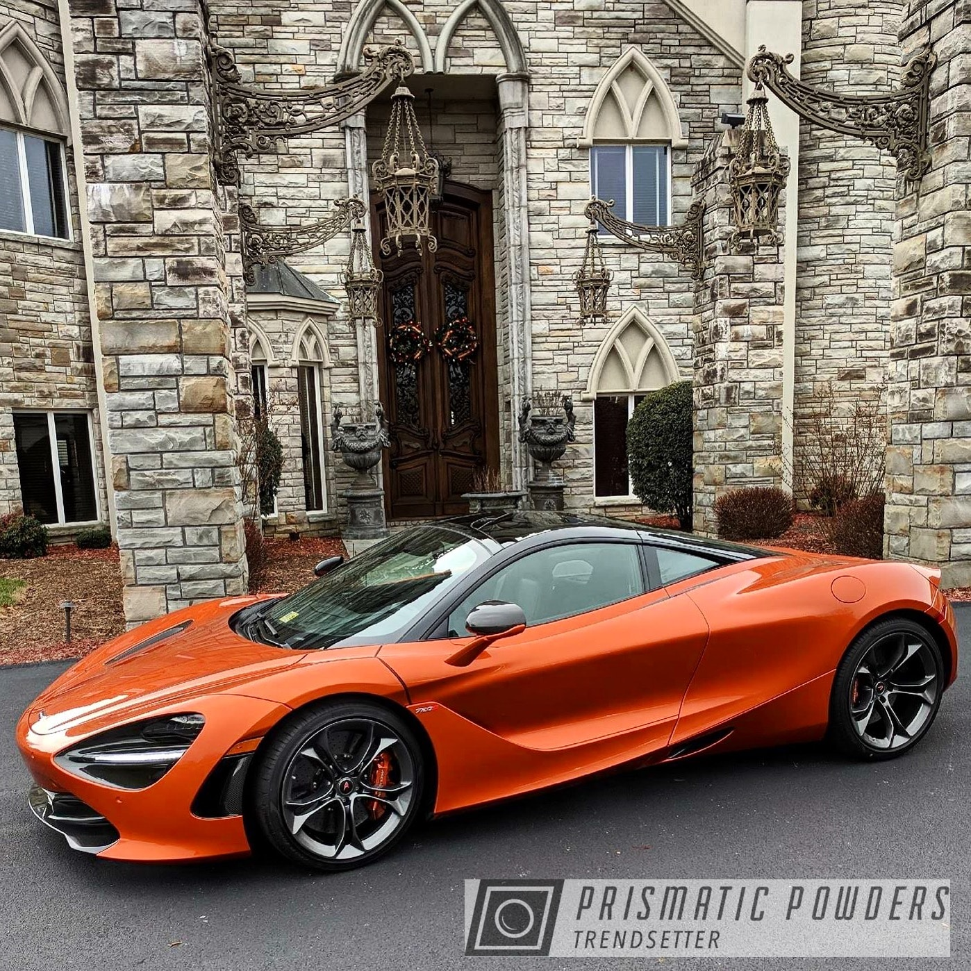 Powder Coating: Wheels,Automotive,Clear Vision PPS-2974,McLaren 720S,Custom Automotive Wheels,Kingsport Grey PMB-5027,Two Coat Application