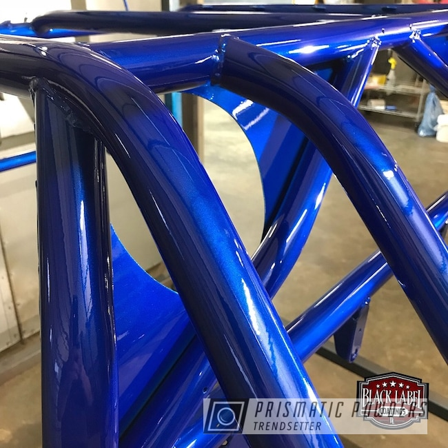 Powder Coating: Off Road,Illusion Blue-Berg PMB-6910,Polaris RZR,Clear Vision PPS-2974,Off-Road,Two Coat Application,Powder Coated RZR Cage,Rzr Cage
