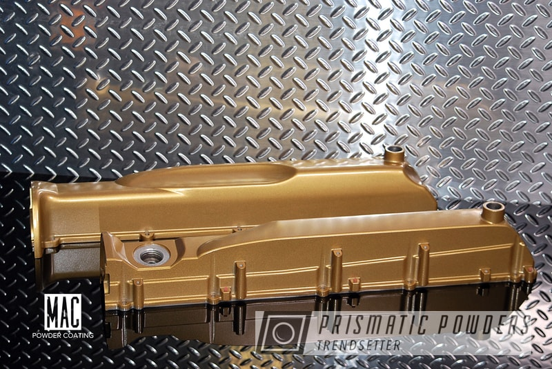 Powder Coating: Auto Valve Covers,Automotive,Powder Coated Skyline RB26DETT Valve Covers,Prismatic Gold,Prismatic Gold HMB-4137