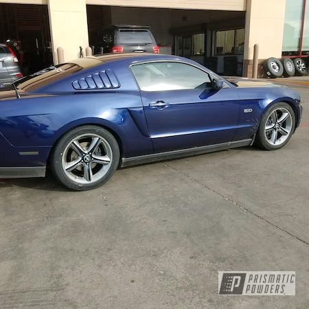Powder Coating: Clear Vision PPS-2974,SUPER CHROME USS-4482,Dark Blue Metallic PMB-5701,Powder Coated Ford Mustang Wheels