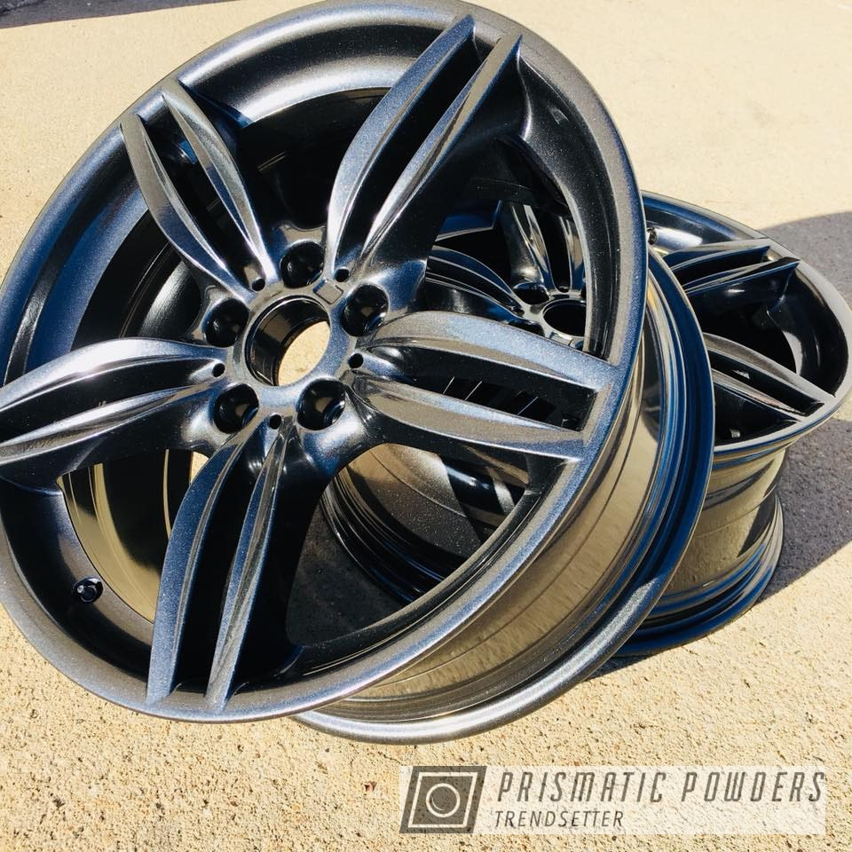 Factory Bmw Wheels Re Coated In Cadillac Grey Gallery Project