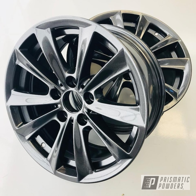 Powder Coating: Wheels,BMW,Grey,Cadillac Grey PMB-6377