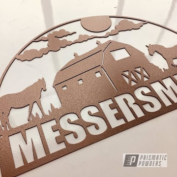 Custom Cnc Plasma Cut Sign Coated In Empire Copper Vein