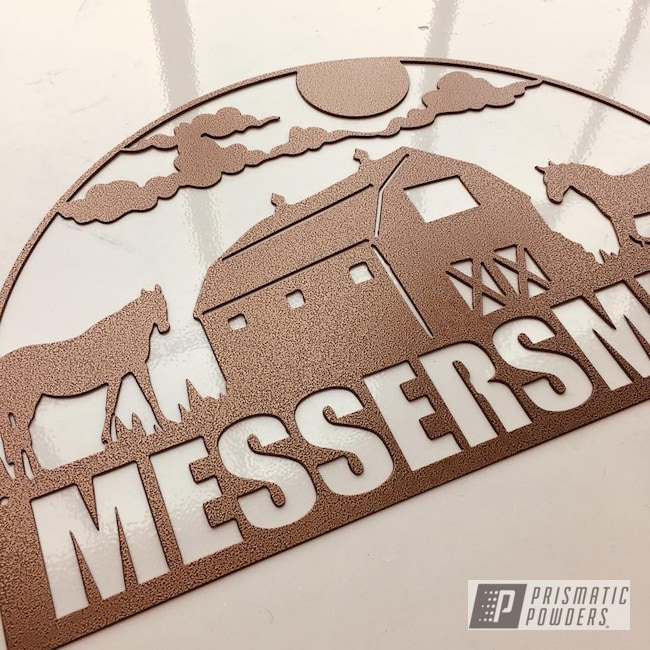 Powder Coating: Empire Copper Vein PVS-5469,Copper,Monogram,Sign,Custom Sign,Miscellaneous