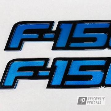 Custom Cnc Plasma Cut Emblem Coated In Ink Black, Illusion Lite Blue And A Clear Vision Top Coat