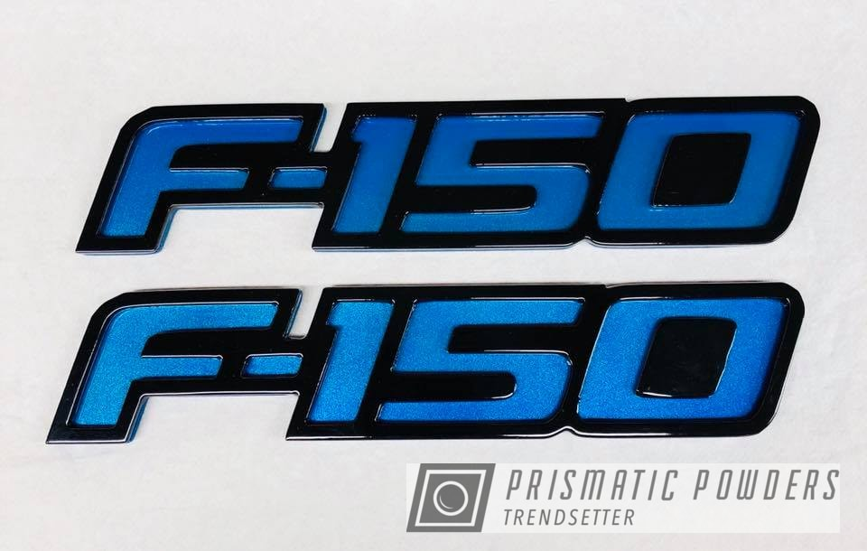 Powder Coating: Clear Vision PPS-2974,Ink Black PSS-0106,Badge,Illusion Lite Blue PMS-4621,Emblem,F150