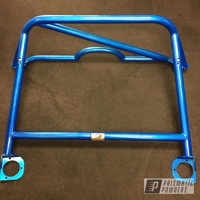 Powder Coating: Illusion Blue-Berg PMB-6910,Clear Vision PPS-2974,Porsche,Roll Bar,GT4,Cayman