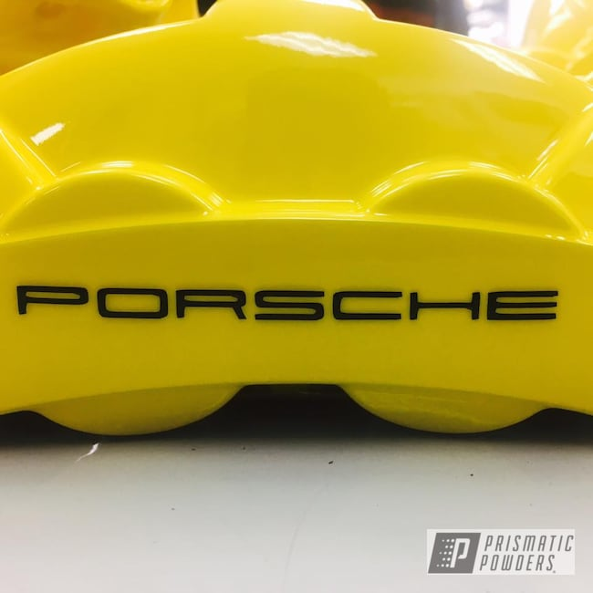 Powder Coating: Custom,Calipers,Clear Vision PPS-2974,Ink Black PSS-0106,Porsche,Caliper,RAL 1018 RAL-1018,Brake