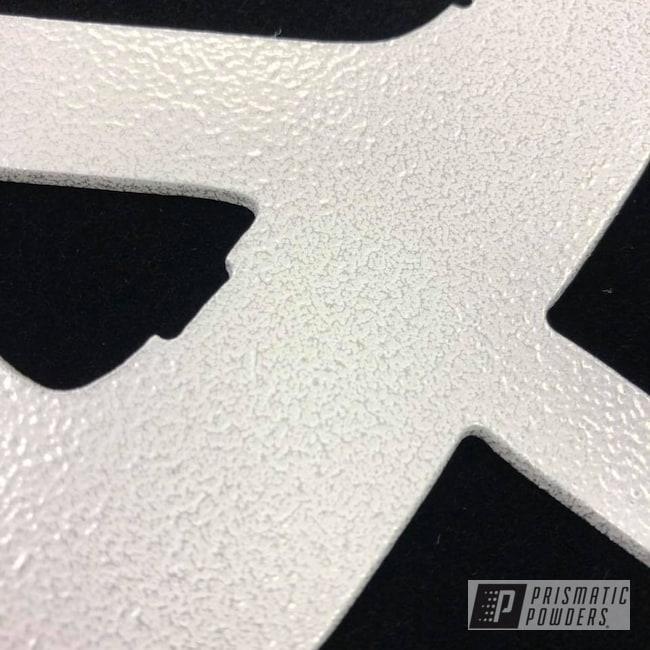 Powder Coating: Custom,White/Silver Vein PVB-8101,Sign,Metal