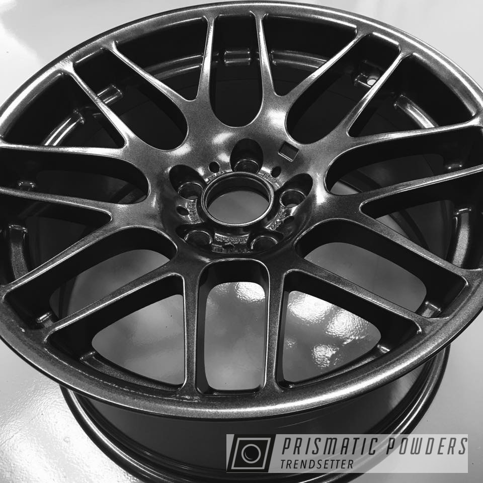 Powder Coating: Wheels,E46,Automotive,BMW,M3,Cadillac Grey PMB-6377