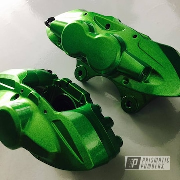 Factory Bmw M4 Brake Calipers Redone In Illusion Lime Time And Clear Vision