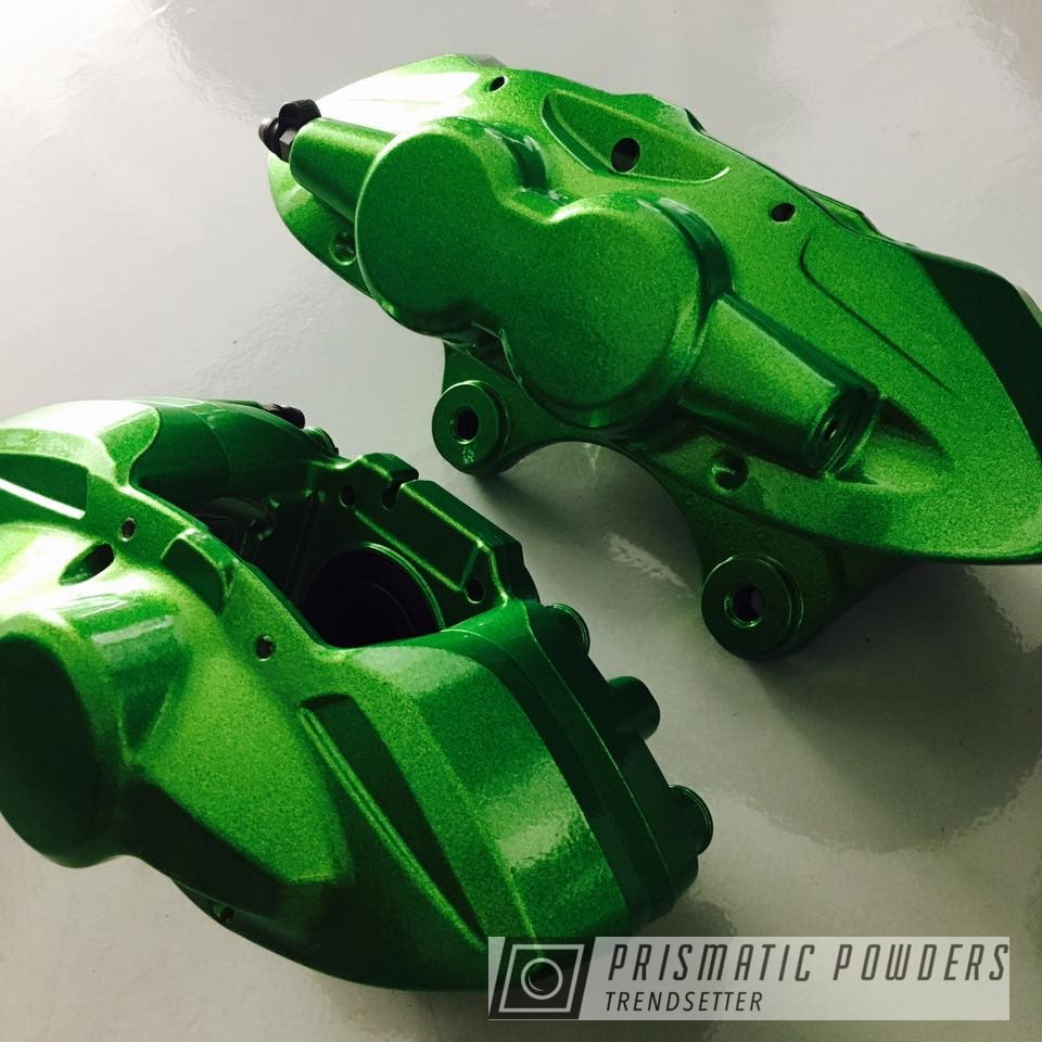 Powder Coating: Calipers,Illusion Lime Time PMB-6918,Clear Vision PPS-2974,BMW,M4,Brake,Custom Brake Calipers