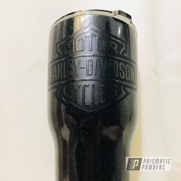 Custom Tumbler Coated In Cadillac Grey And Black Jack