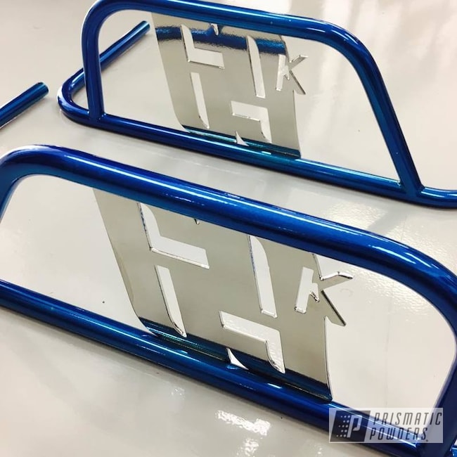 Powder Coating: SUPER CHROME USS-4482,Nerf Bar,Go Kart,ANODIZED BLUE UPB-1394