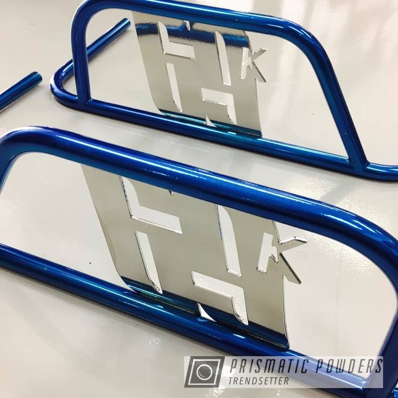 Custom Go Kart Nerf Bar Coated In Super Chrome And Anodized Blue