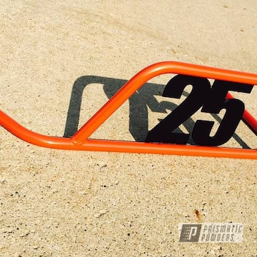 Custom Go Kart Nerf Bar Coated In Fire Orange And Matt Black