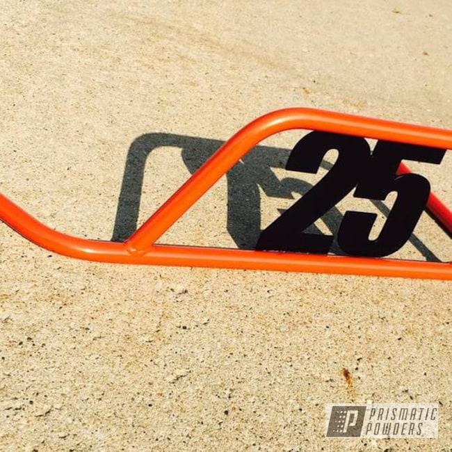 Powder Coating: Matte Black PSS-4455,Nerf Bar,Go Kart,Two Tone,Fire Orange PMB-6463