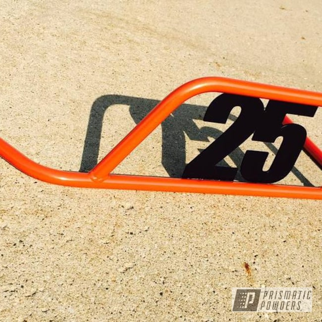 Powder Coating: Matte Black PSS-4455,Nerf Bar,Go Kart,Two Tone,Fire Orange PMB-6463
