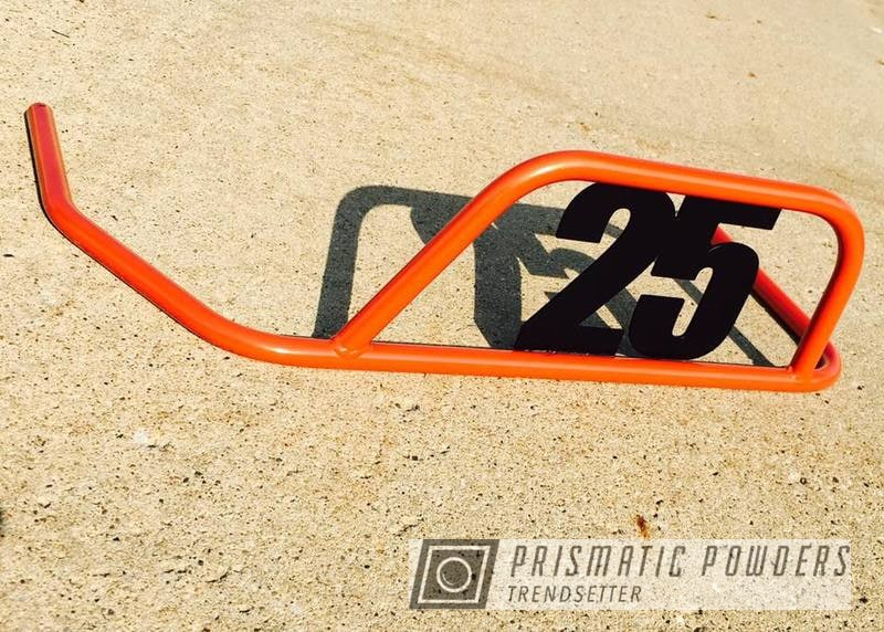 Powder Coating: Matt Black PSS-4455,Nerf Bar,Go Kart,Two Tone,Fire Orange PMB-6463