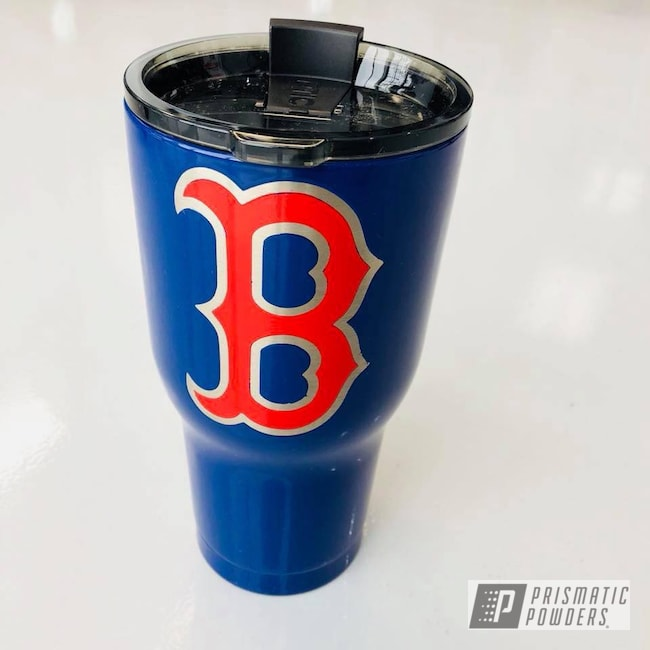Powder Coating: Sierra Blue PSB-4719,Tumbler,RTIC,Red Sox,Astatic Red PSS-1738