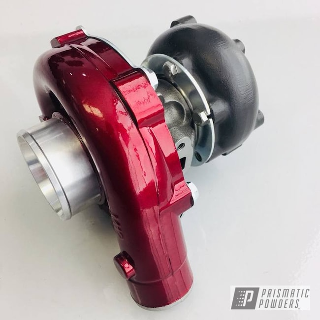 Powder Coating: Automotive,Clear Vision PPS-2974,Turbo,Illusion Cherry PMB-6905