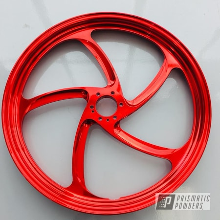 Powder Coating: Wheels,Vegas,Victory Red,Motorcycles,Rancher Red PPB-6415