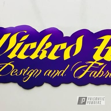 Custom Cnc Plasma Cut Sign Finished In Illusion Purple And Ral 1018 With A Clear Vision Top Coat