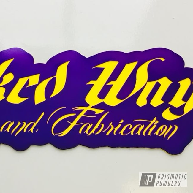 Powder Coating: Illusion Purple PSB-4629,Custom,Clear Vision PPS-2974,Sign,RAL 1018 RAL-1018,Business
