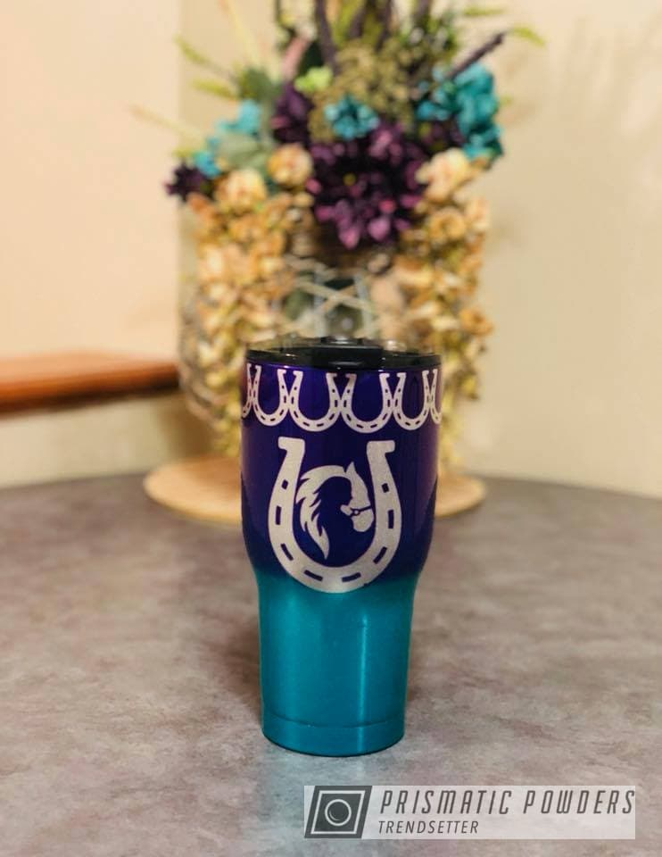 Powder Coating: Custom,Clear Vision PPS-2974,Tumbler,cup,RTIC,HD TEAL UPB-1848,Alien Silver PMS-2569,Lollypop Purple PPS-1505