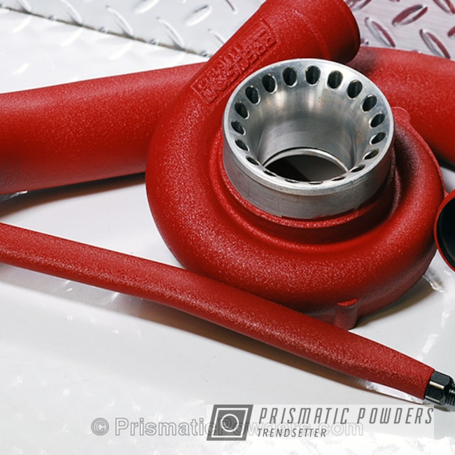 Powder Coating: Desert Crimson Red PWB-6699,Single Powder Application,Custom,WRX,Automotive,Engine Components,Solid Tone,Engine Parts