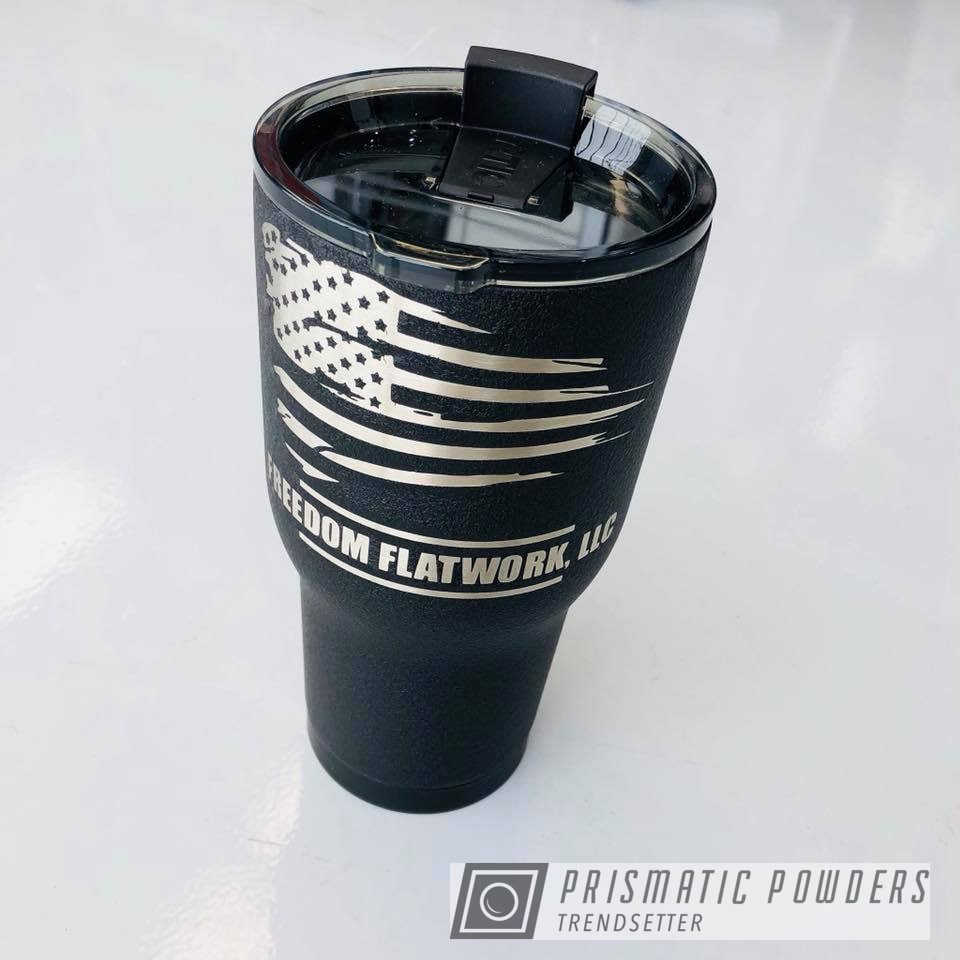Powder Coating: Custom,Tumbler,RTIC,Desert Nite Black PWS-2859