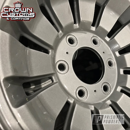 Powder Coating: Wheels,Automotive,Clear Vision PPS-2974,Jeep Wheels,Mystery Silver PMB-5020