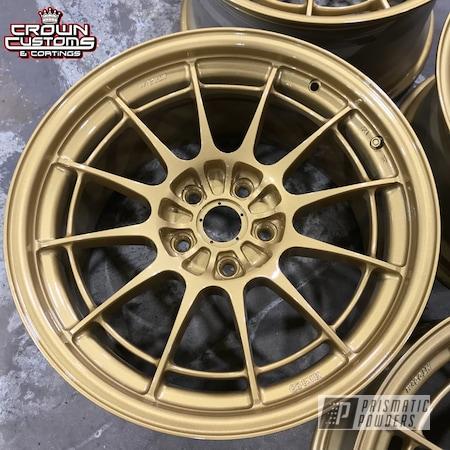 Powder Coating: Enkei Wheels,Clear Vision PPS-2974,Spanish Gold EMS-0940