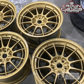 Enkei Nt03m Wheels Coated In Spanish Gold With Clear Vision Top Coat